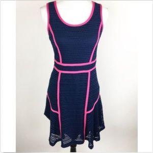 Cynthia Rowley Trim Eyelet Flare Dress